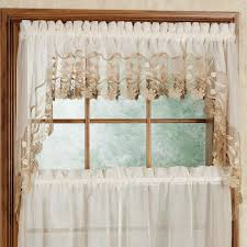 swag curtains for kitchen inch country fishtail solid colors long