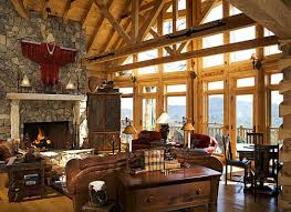 log cabin home interiors luxury log home interiors targhee log cabin home rustic luxury log