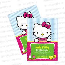 Hello Kitty Invitation Cards Hello Kitty Theme Invitations Hello Kitty Invites