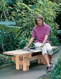 japanese garden bench popular woodworking magazine