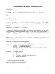 Proposal Cover Letter Cover Letter Technology Transfer Shishita World Com