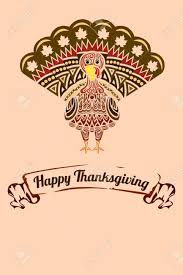 a illustration of a thanksgiving background with turkey design
