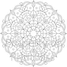 23 flower mandala printable coloring page by printbliss on etsy