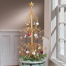 36 inch metal ornament tree decoration black or gold