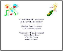 graduation party invitation wording free printable personal graduation invites