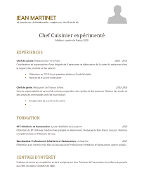lettre de motivation chef de cuisine en restauration collective exemple de cv cuisinier