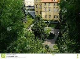 one of the beautiful yards in prague stock photo image 72492763