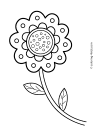 beautiful flower coloring pages for kids printable coloing