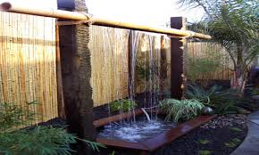 pond ideas with waterfall outdoor water wall kit diy outdoor wall