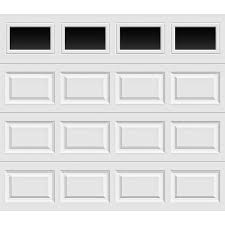 clopay premium series 8 ft x 7 ft 6 5 r value insulated garage