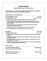 Occupational Therapy Resume Template Massage Therapist Resume Examples Respiratory Therapist Resume