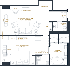 Floor Plan For Master Bedroom Suite Luxury One Bedroom Hotel Suites The Langham Chicago