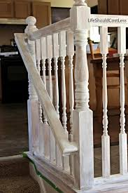 How To Paint Banister Banister Make Over With Americana Decor Chalky Paint Life Should