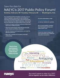 NAEYC Guest Blogger     s blog   National Association for the     NAEYC You voted Early Ed for President  now join us in our nation     s Capital to advocate for early childhood education and educators with a new Congress and a new