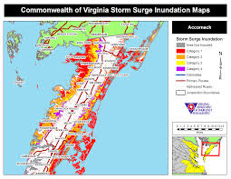 Va County Map Hurricane Storm Surge Maps Virginia Department Of Emergency