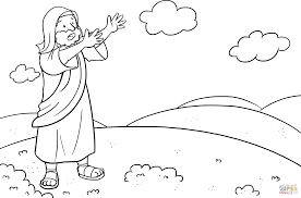 moses asked the lord what to do with his people coloring page