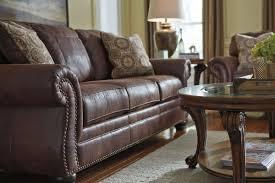 Microfiber Sleeper Sofa by Breville Brown With Nailhead Sleeper Sofa