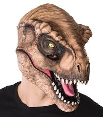 dinosaur halloween costume for adults jurassic world t rex 3 4 mask adventure movies halloween