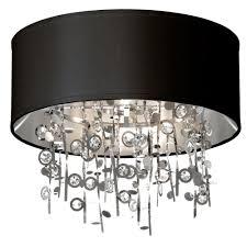 crystal semi flush mount lighting dainolite picabo 4 light polished chrome crystal semi flush mount