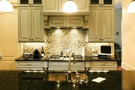 light gray wooden kitchen cabinet mosaic backsplash checkered
