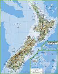 American Samoa Map Map Of New Zealand With Cities And Towns