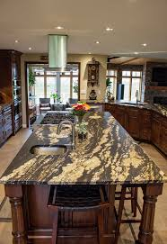 cosmos wave granite kitchen countertops featuring a leather or