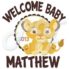 baby shower shirts lion king baby shower personalized t shirt