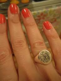 Monogramed Rings Monogram Rings Sterling Silver Initials Rings Name Jewelry 925