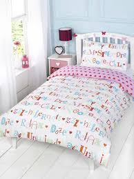 pink and white girls bedding childrens girls chill out white pink hearts single duvet cover