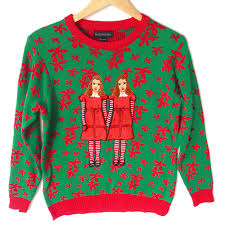 shining twins tacky ugly christmas sweater ugly sweater shop