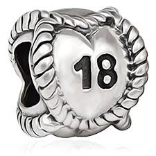 Birthday Charm Bracelet 18 Birthday Charm Bracelet Bead Happy 18th Sterling Silver 925