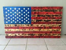 designs wooden american flag wall with distressed american
