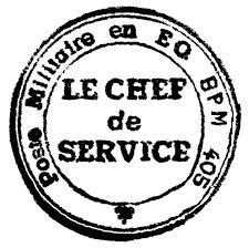 bureau du chef la poste aux armees un soit transmis du bureau postal militaire 405