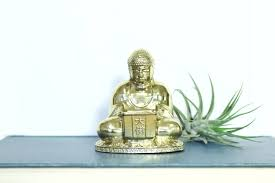buddha figurine vintage metal buddha incense burner statue