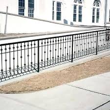 exterior wrought iron railings outdoor stair handrail handicap