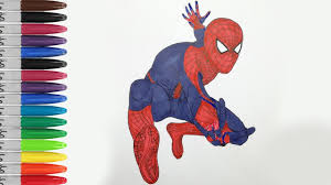 spiderman threaten monster coloring pages amazing