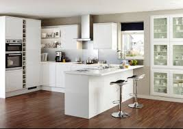 Contemporary Kitchen Clerkenwell Gloss White Contemporary Kitchen From Howdens