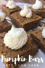 keto cheesecake fluff pumpkin bars keto low carb recipe pumpkin spice pecans keto