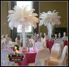 feather centerpieces feathers by angel rent ostrich feather centerpieces