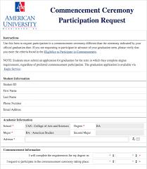 list of forms american university washington d c