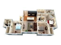 3 bed 3 bath floor plan b student apartments