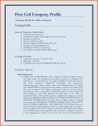 Resume Profile Template Doc 580650 Example Of Company Profile Template U2013 Sample Company