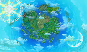 World Cloud Map by Twin Saga So Began The Conflict Of The Twins Exciting Anime