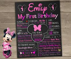 minnie mouse 1st birthday party ideas minnie mouse birthday chalkboard minnie mouse
