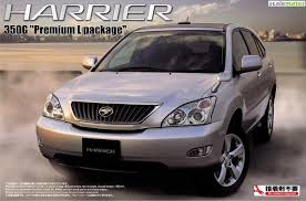 toyota harrier 2008 toyota harrier 350g premium l package aoshima 03953