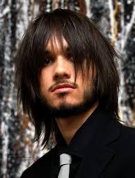 long layered and razor cut mens hairstyle