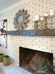 painting brick fireplace white design ideas loversiq