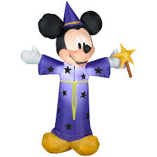 halloween inflatable shop gemmy 4 ft lighted mickey mouse halloween inflatable at lowes com