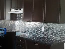 metal backsplash tiles for kitchens interior awesome stainless steel metal and black tiled glass