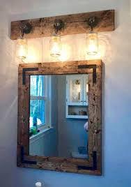 Rustic Vanity Mirrors For Bathroom by Rustic Full Bathroom Set Handmade Bathroom Decor Mirror